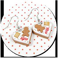 earrings christmas cookies no. 8