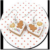 earrings christmas cookies no. 6