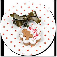 mini brooch christmas cookie no. 10