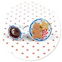 christmas plug-in earrings coffee with sweets no. 3
