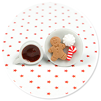 christmas plug-in earrings coffee with sweets no. 4