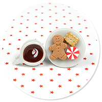 christmas plug-in earrings coffee with sweets no. 2