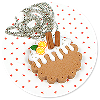 necklace christmas cookie