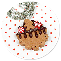 necklace christmas cookie no. 6