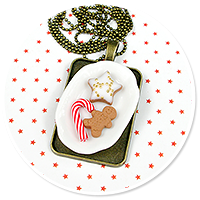 necklace christmas with sweets no. 6
