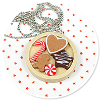 necklace christmas with sweets