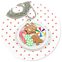 necklace christmas with sweets no. 2