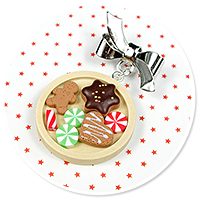 christmas brooch with gingerbreads no. 2