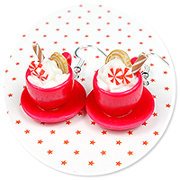 earrings christmas cup of hot chocolate no. 12