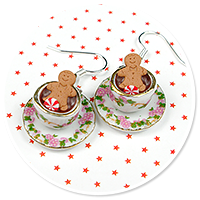 earrings christmas cup of hot chocolate no. 10