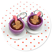 earrings christmas cup of hot chocolate no. 9