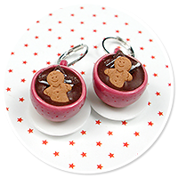 earrings christmas cup of hot chocolate no. 11