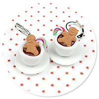 earrings christmas cup of hot chocolate no. 8