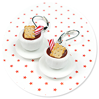 earrings christmas cup of hot chocolate no. 7