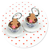 earrings christmas cup of hot chocolate no. 5