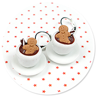 earrings christmas cup of hot chocolate