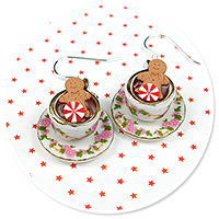 earrings christmas cup of hot chocolate no. 3