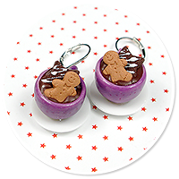 earrings christmas cup of hot chocolate no. 6