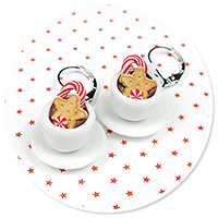 earrings christmas cup of hot chocolate no. 2