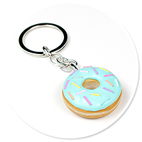 keyring with donut no. 7