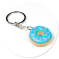 keyring with donut no. 3