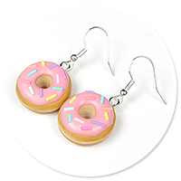 earrings donuts with sprinkles no. 2