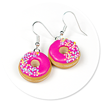 earrings donuts with sprinkles no. 6