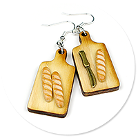 earrings with baguettes