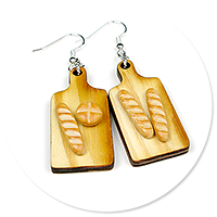 earrings with baguettes no. 2