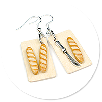 earrings with baguettes no. 4