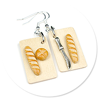 earrings with baguettes no. 6