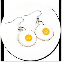 earrings fried eggs