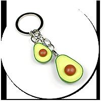 keyring with avocado no. 2