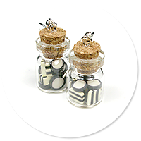 earrings jar with jelly (liquorice) no. 2