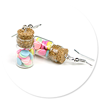 earrings jar with candies no. 2