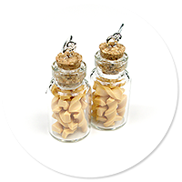 earrings jar with pasta