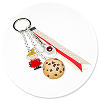 keyring with Little My, coffee and cookie no. 3