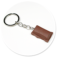 keyring piece of chocolate no. 4