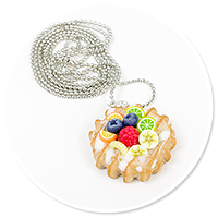 necklace waffel with fruits no. 4
