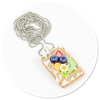 necklace waffel with fruits no. 2