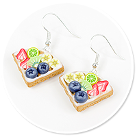 earrings waffles with fruits no. 5