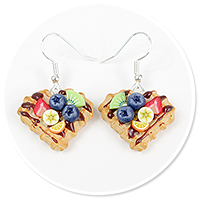 earrings waffles with fruits no. 4