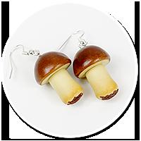 earrings mushroom