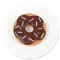brooch cookie donut