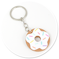keyring with cookie donut no. 2