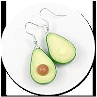 earrings avocado