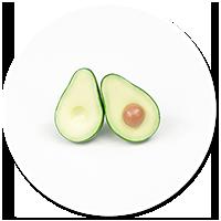 plug-in earrings avocado