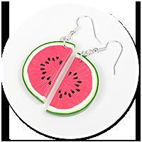 earrings watermelons no. 2