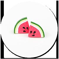 plug-in earrings watermelons no. 2
