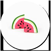 plug-in earrings watermelons no. 3